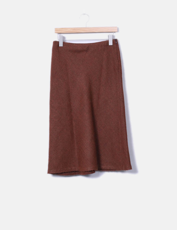 larga Faldas online baratas marrón Falda Zara aYOqSS ... 00de37cc58e9