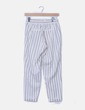 Pantalón chino blanco rayas Bershka