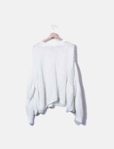 Maglione beige oversize bianco Pull&Bear