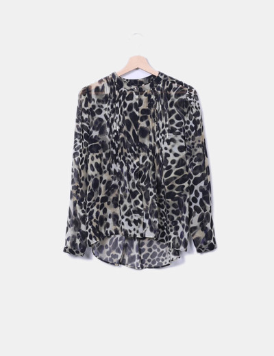 92480cfee2b0ec Mango Animal print semi-transparent blouse (discount 74%) - Micolet