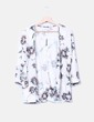 Kimono floral tricot Bershka