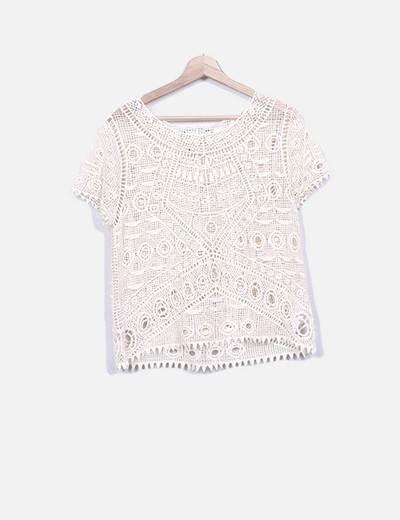 Blusa tricot beige Suiteblanco