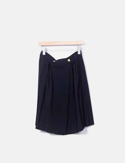 Jupe noire plissée El Corte Inglés