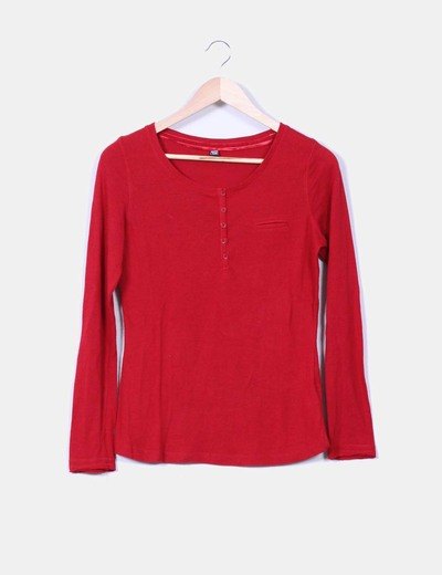 Camiseta roja manga larga Pimkie