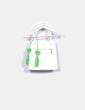 Bolso blanco y verde troquelado NoName