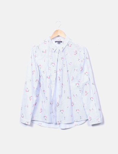 Camisa rayas con flores Primark