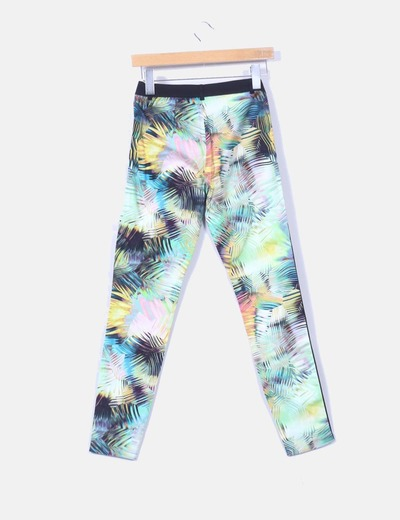 Pantalon pitillo tropical