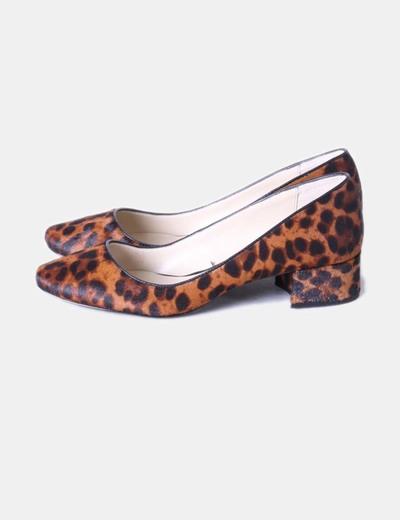 Zapatos Zara cuña animal print n 38