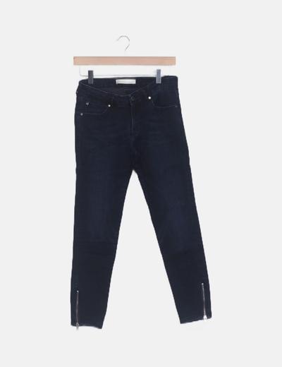 Jeans denim detalle cremallera