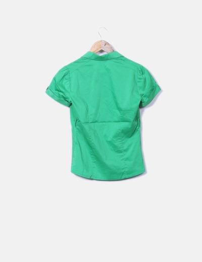 93d6cf6e0d5 Stradivarius Camisa verde manga corta (descuento 94%) - Micolet
