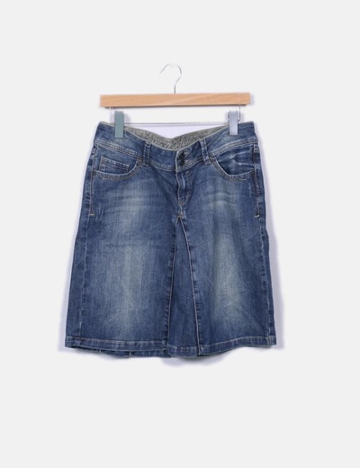 Jupe midi denim Espirit