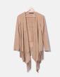 Kimono antelina camel con flecos Zara