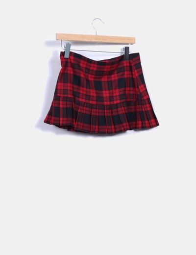 Minifalda de cuadros