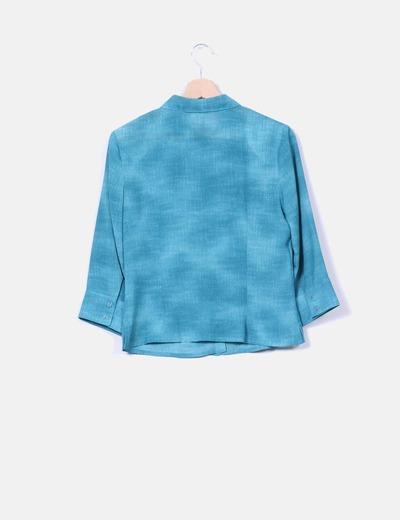 Conjunto de vestido y chaqueta azul