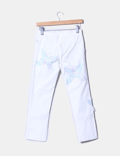 Pantalon blanco con lentejuelas