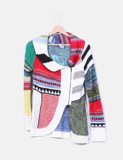 Chaqueta tricot estampada Desigual
