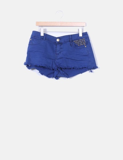 Short bleu marine avec clous Atmosphere