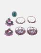Conjunto de pendientes y anillo combinados NoName