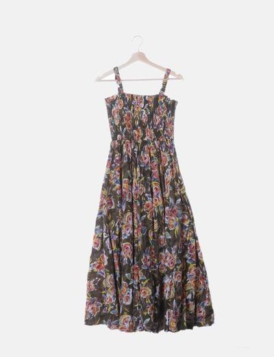 Vestido de tirantes con print floral