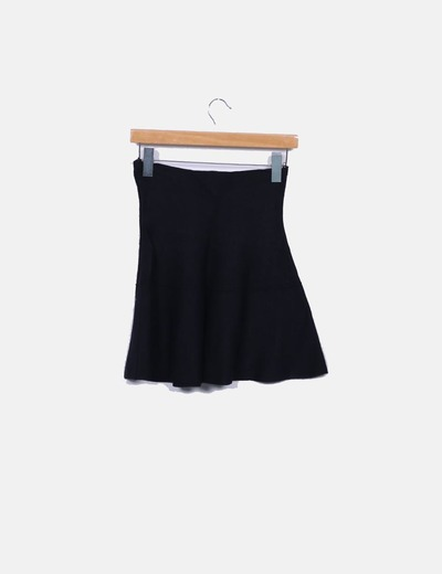 86b10eb37 Minifalda negra de punto