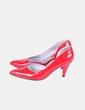 Zapato rojo acharolado   semicerrado  Aurea Alves