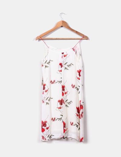 Vestido blanco print floral