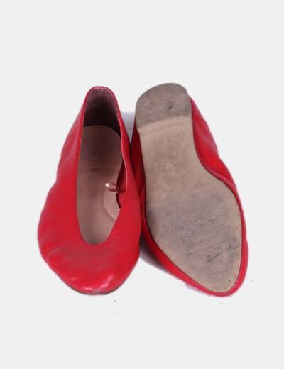 527b035dd6 Zara Manoletinas de punta rojas (descuento 80 %) - Micolet