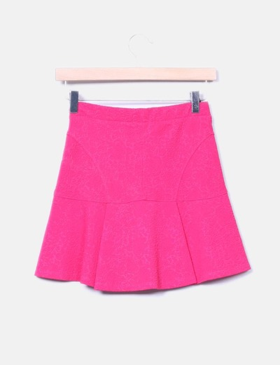 Falda texturizada rosa fucsia