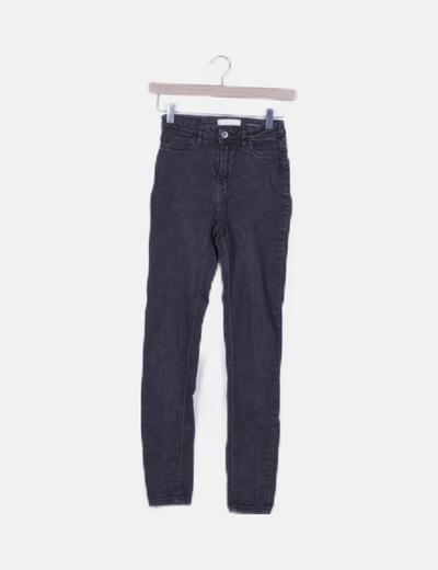 Jeans negro high waist