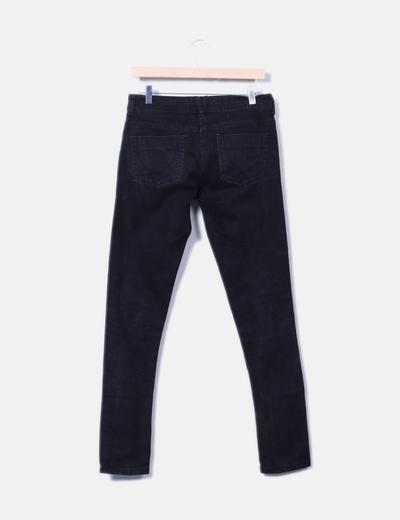 Pantalon denim negro skinny fit