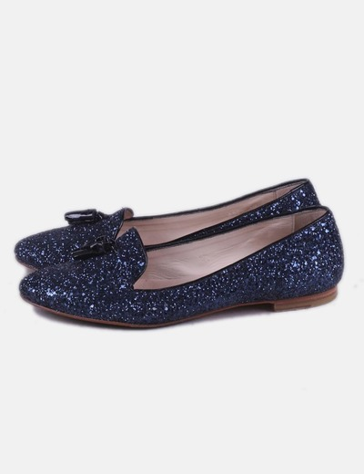 Bailarina azul con glitter