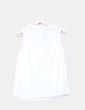 Blusa blanca con escote caja Springfield