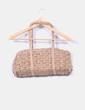 Bolso marrón de papel con brillos plateados Trucco