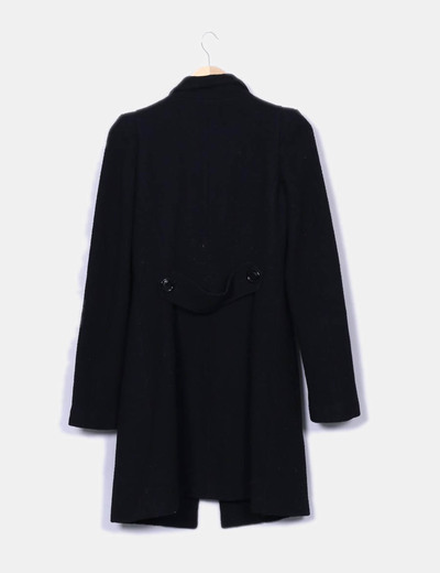 Abrigo largo rizo negro
