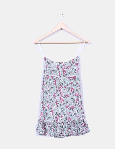 Top palabra de honor estampado floreado Pull&Bear
