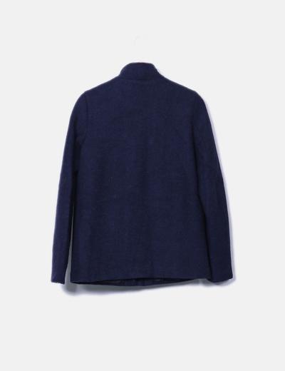 Abrigo azul marino textura