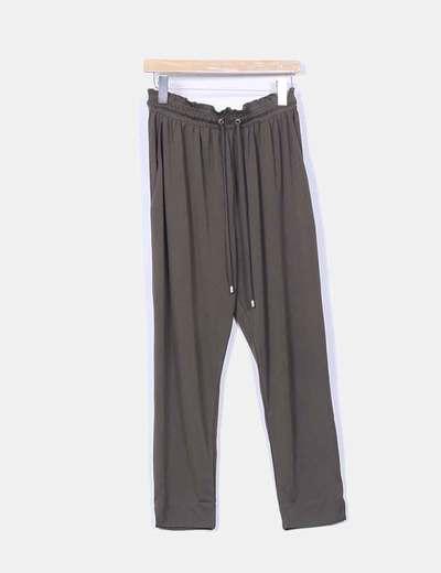 Pantalón baggy verde oscuro H&M
