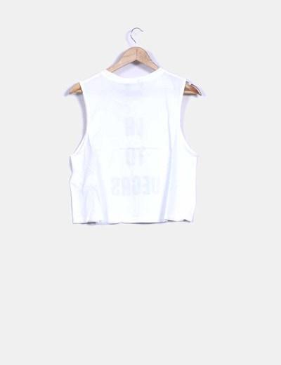 Camiseta blanca print la to las vegas