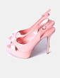 Sandales roses de brevet pâle Mango
