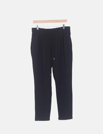 Pantalón baggy fluido negro