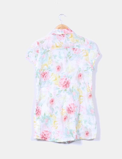 Blusa estampada floreada