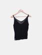 T-shirt noir à sequins en tricot Jolina