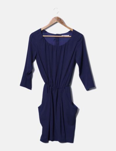00d630deb Easy Wear Vestido básico azul marino (descuento 96%) - Micolet