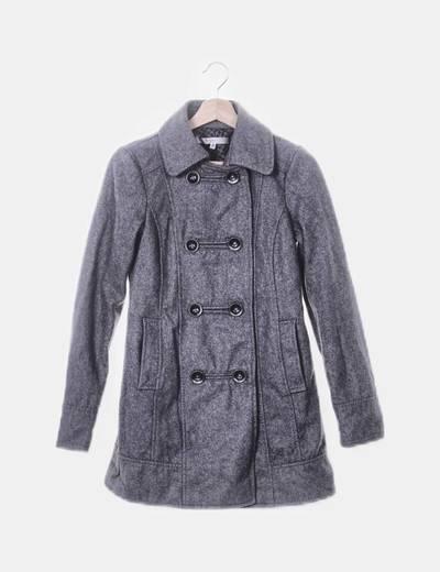 Abrigo gris de paño