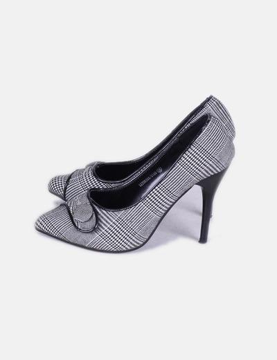 y amp; negro cuadros blanco Grace Zapato de Mila txP8qnO