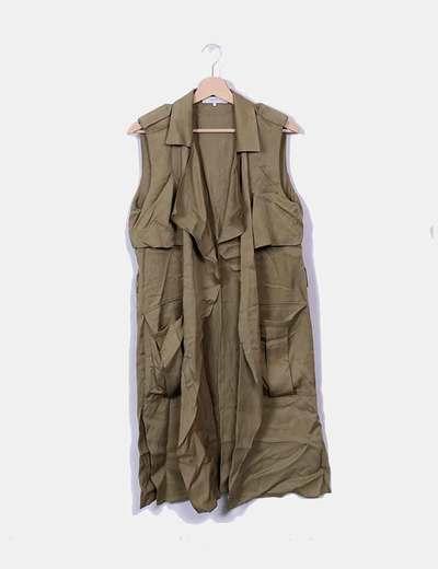Veste verte longue Zara