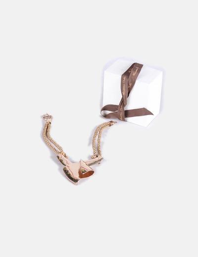 Collar cordón dorados Massimo Dutti