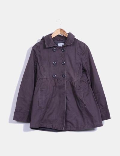 Abrigo marrón con capucha Tex