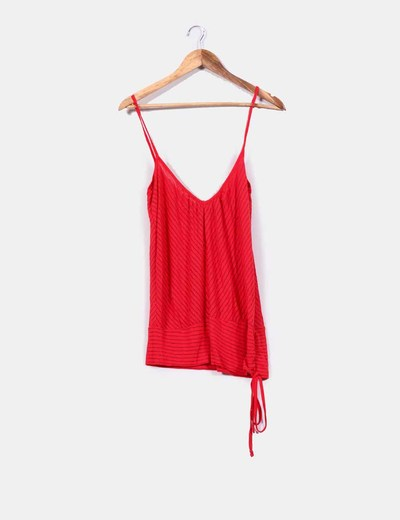 93f4b774a7d Zara Top tirantes de rayas rojo (descuento 87%) - Micolet