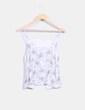 Top crudo floral con crochet Zara